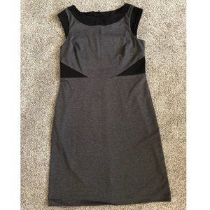 💜 CONNECTED💜  sz 14 GRAY and BLACK SHEATH DRESS